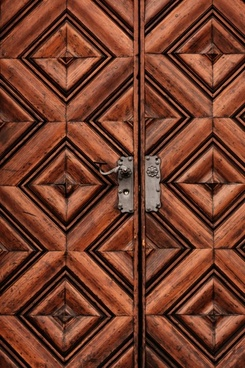 heavy wooden door