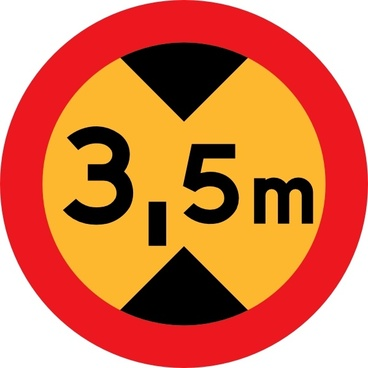 Height Sign clip art