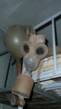 helmet and gas mask