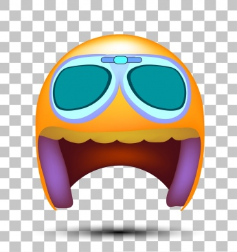 helmet icon 3d multicolored funny design