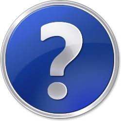 Help blue round button