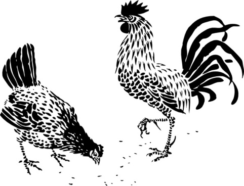 black and white rooster clip art free vector download 217 852 free
