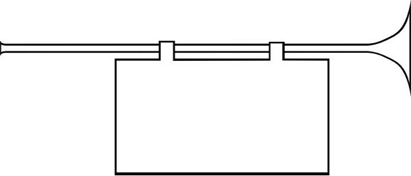 Herald Trumpet Frame clip art