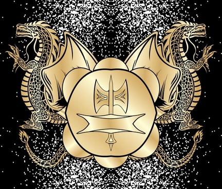 heraldic blazon vector