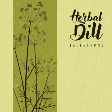 herbal dill background classical colored decoration