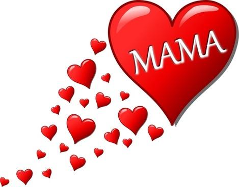 Herz für Muttertag mit einer Spur von Herzen