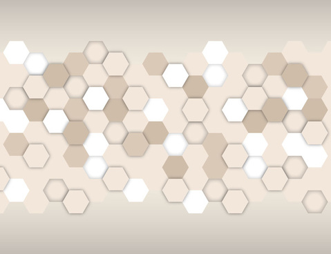 hexagon network background