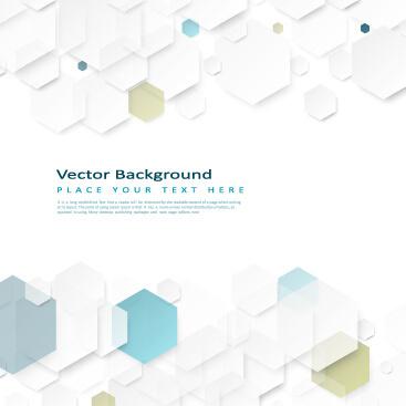 hexagon paper art background vector