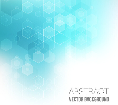 hexagon with blurs background vector