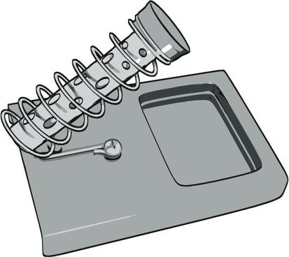 Hexdoll Soldering Iron Stand clip art