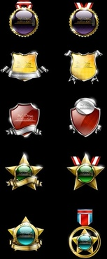 high quality badge vector 1