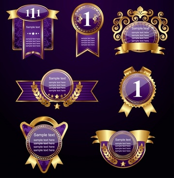 high quality europeanstyle label vector