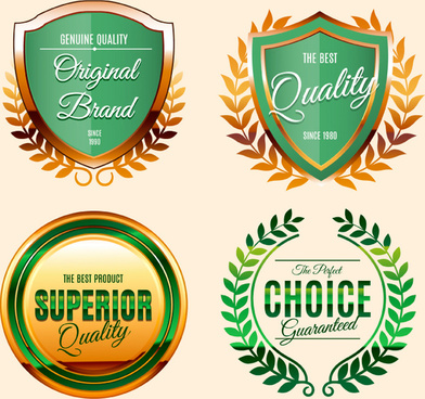 high quality green label vector