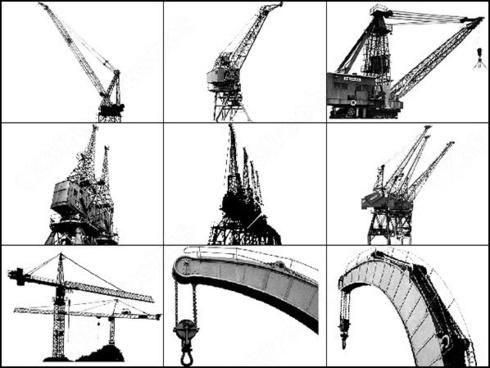 high steel cranes brush
