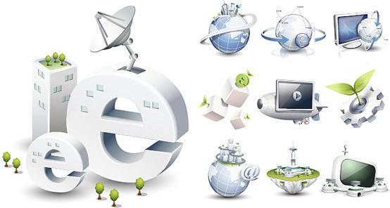 high tech style icon 2 vector