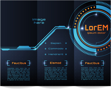 high tech styles brochure templates vector
