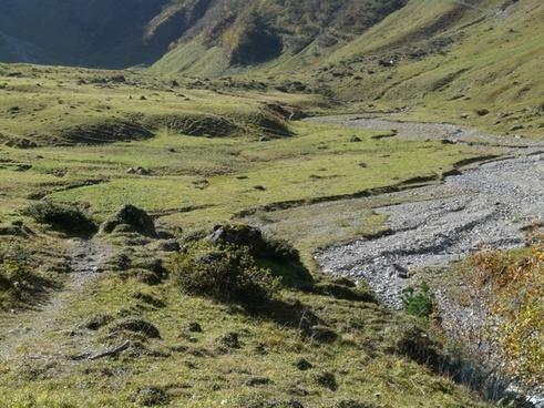 high valley valley landscape