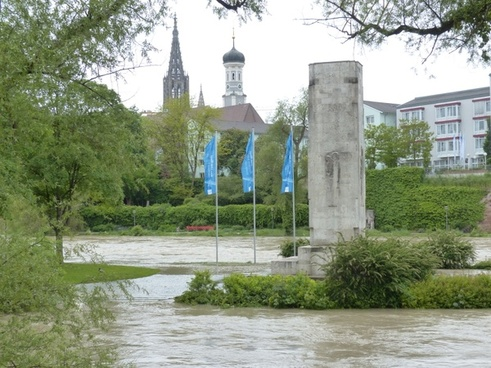 high water danube flooded