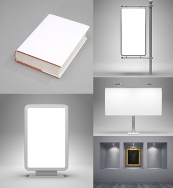 highdefinition picture of a blank display billboards and exhibitions
