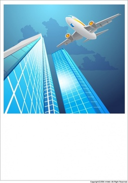 highrise buildings vector