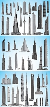 skyscrapers models 3d modern architecture design