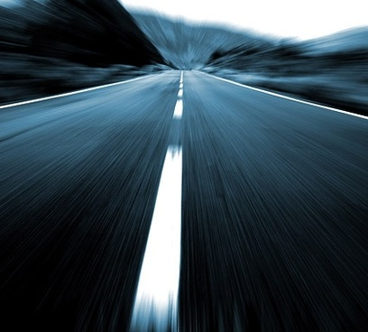 highspeed highway stock photo