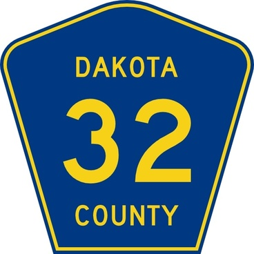 Highway Sign Dakota County Route 32 clip art