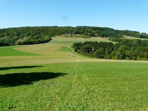 hiking hike fields