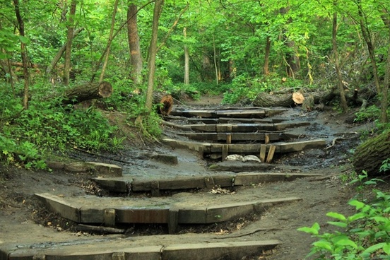 hiking steps at starved rock state park illinois