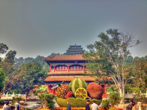 hill and front of jingshan in beijing china