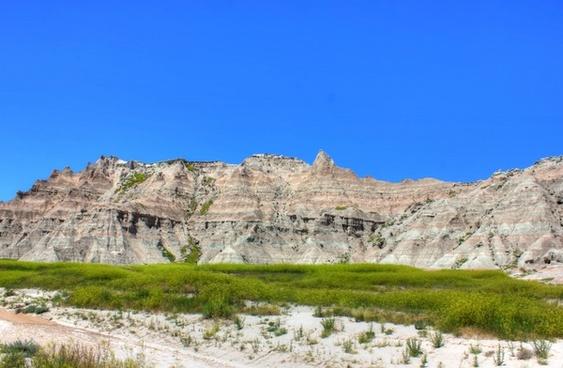 hills and formations at badlands national park south dakota