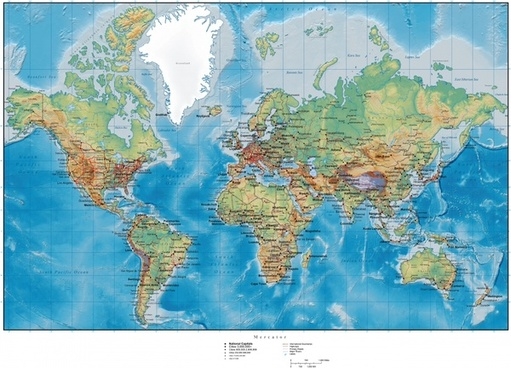 wold map background colored flat design