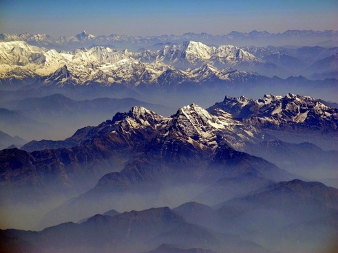 himalayas mountains landscape