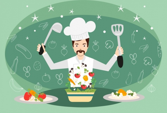 hobby concept theme cooking work symbols decoration