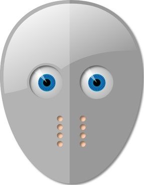 Hockey Mask And Eyes clip art