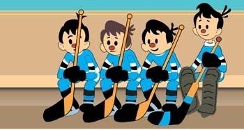 Hockey sport vector 3