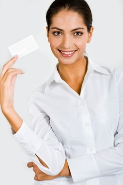 holding a blank business card characters hd picture 4