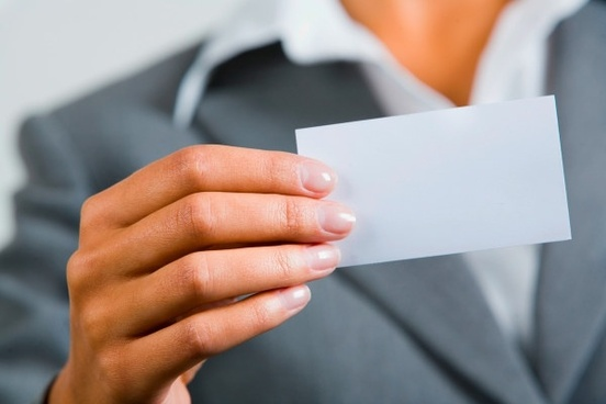 holding a blank business card characters hd picture 5