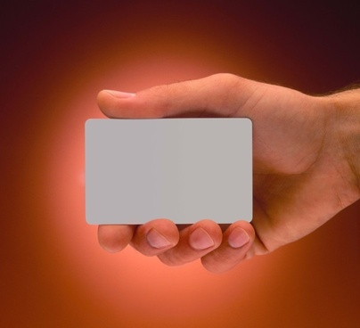 holding a blank business card definition picture
