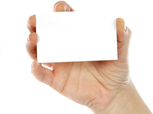 holding a blank card hd picture 2