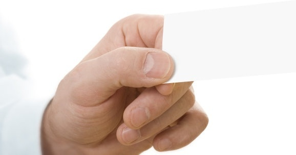 holding a blank card hd picture 3