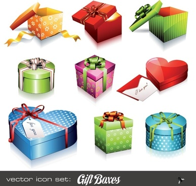 holiday gift icon vector