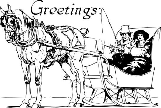 Holiday Greetings clip art