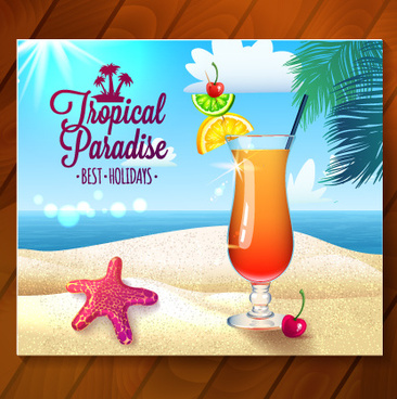 holiday photo with wooden background vector