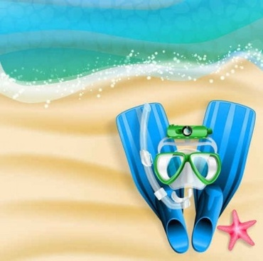 holiday summer beach background vectors