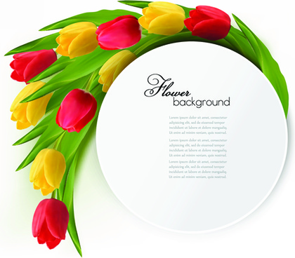 holidays tulips creative background vectors