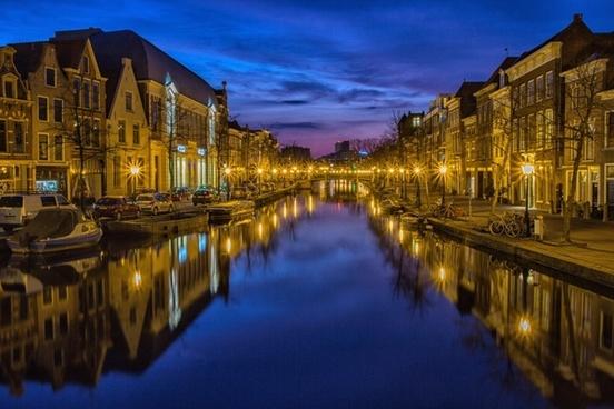 holland suffer city blue hour