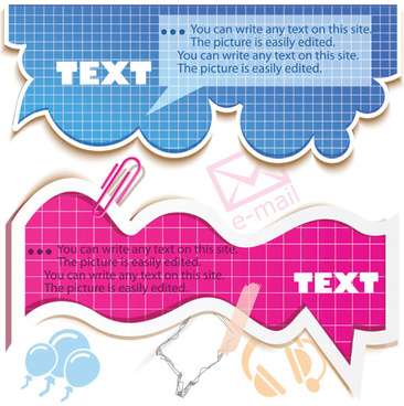 hollow clouds vector label