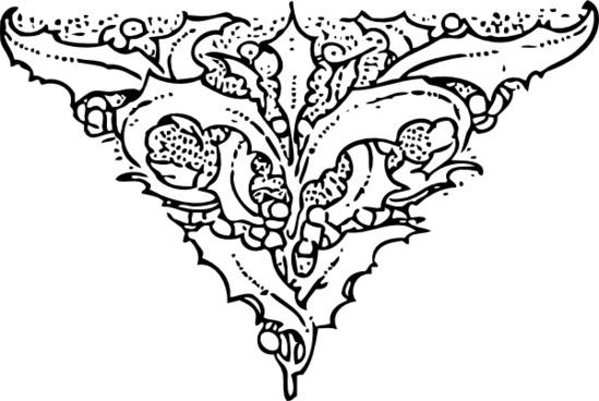 Holly End Piece Tattoo Clip Art