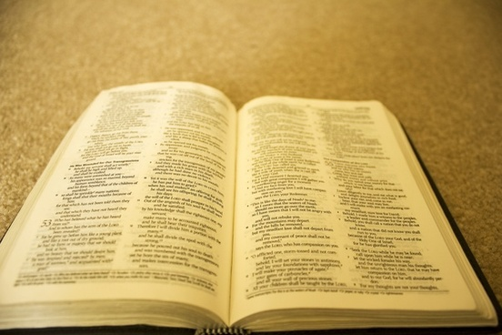 holy bible opened